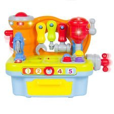 NEW Musical Learning Pretend Play Tool Workbench Toy, Fun Sound Effects & Lights (Play Toaster Oven compare prices)