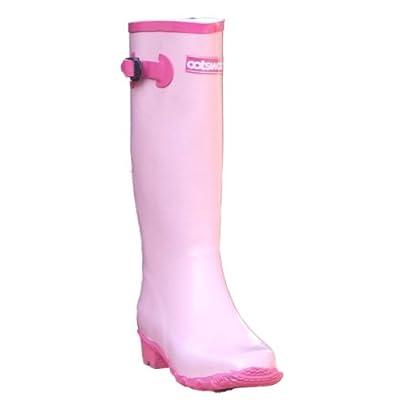 Cotswold Womens Pink Glitter Wellington Boots