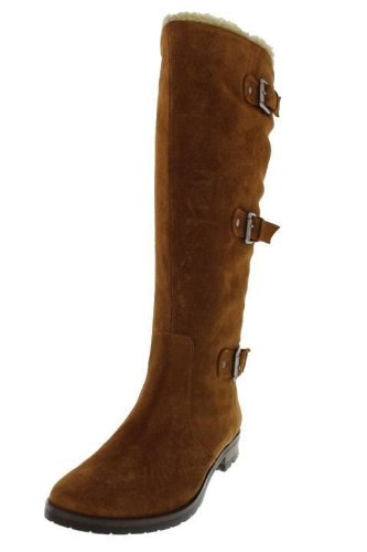 Alfani Vermont Brown Suede Tall Knee Boot Shoes Size 11m