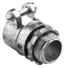 Bridgeport 414-DC2 1-1/2-Inch Flexible Metal Conduit Squeeze Connector, 10-Pack