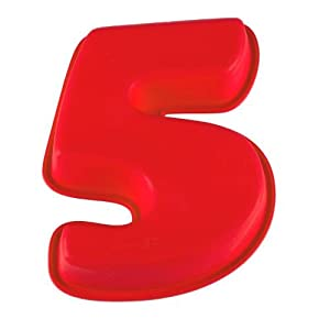 Molde silicona numero 5 25 5x21 5x5 6 cm hogar - Moldes silicona amazon ...