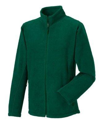 Russell 870M Mens Full Zip Outdoor Fleece Jacket Bottle Green 4XL