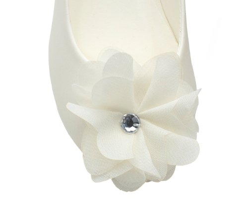 Lovely Floral Accent Ballet Shoes for Little Kids