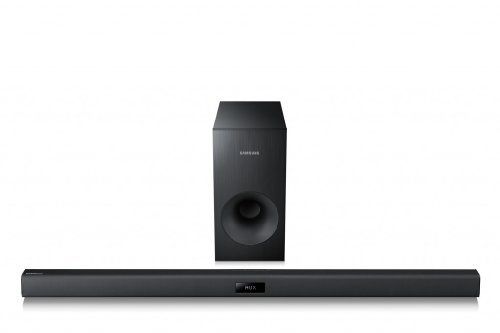 Samsung HW-F350/EN 2.1 Soundbar mit Subwoofer (120 Watt, ConnectShare)