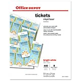 Office Depot(R) Laser/Inkjet Tickets, Pack Of 440 Tickets