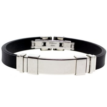 Jet Set Black Rubber & Stainless Steel Designer