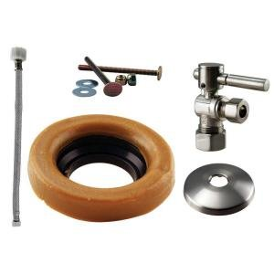 Westbrass D1612TBL-07 Handle Ball Valve Kit Wax Ring Toilet Lever