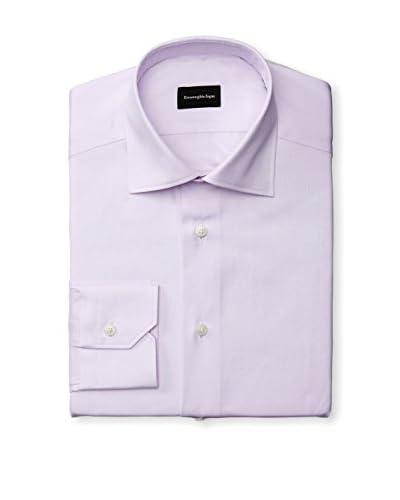 Ermenegildo Zegna Men's Herringbone Dress Shirt