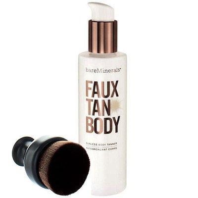 BARE ESCENTUALS bareMinerals Faux Tan Body Sunless Body Tanner Jumbo Size 472 ml / 16 fl. oz. with Pump and Deluxe Tan Brush (Bare Escentuals Faux Tan Brush compare prices)