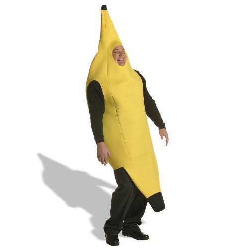 Banana Costume Plus Adult (As Shown;Plus Size)