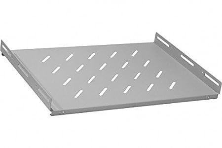 Plateau fixe 1U 19' 450 mm gris