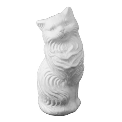 White Kitty-Cat Money Bank: Large Blow-Mold - Classic Retro Design - 1