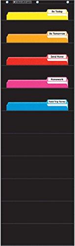 Scholastic Classroom Resources File Organizer Pocket Chart, Black (SC573276) (Pocket Chart Organizer compare prices)