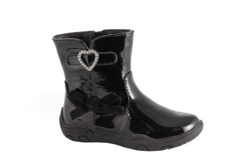 Launch Baby Girls Patent Bootie Size 6 Black