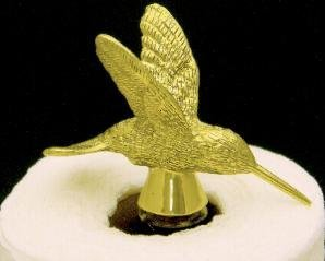 Mayer Mill Brass Hummingbird Paper Towel Holder