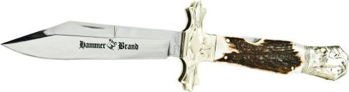 Hammer Brand HB1 Horse Large Folding Knife with Stag Handle
