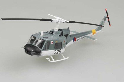 UH1F Huey Czech Navy Helicopter (Built-Up Plastic) 1-72 Easy Model
