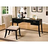 Office Desk and Chair Set in Dark Cappuccino by Coaster Furniture