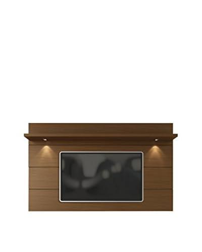 Manhattan Comfort Cabrini TV Panel 2.2, Nut Brown