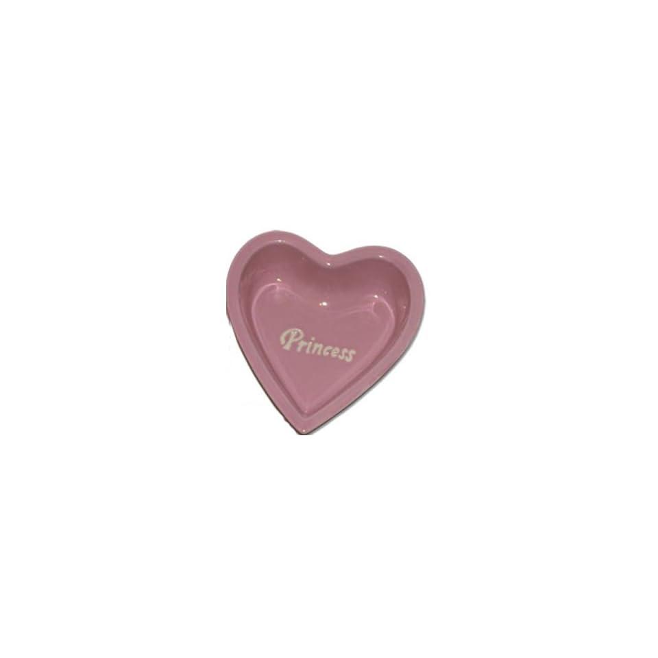 Princess of Pets Pink Heart Shaped Dog/Cat Bowl   6.25 by Petrageous Designs