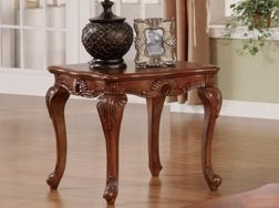 Image of 1-pc End Table in Walnut Finish PDS F60235 (B004RPZM6Q)