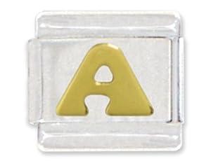 Letter A Italian Charm Bracelet Link