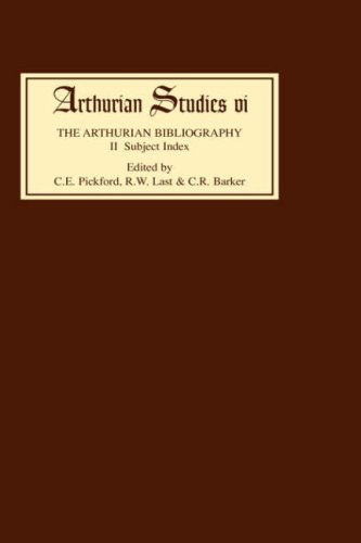 2: Arthurian Bibliography II: Subject Index (Arthurian Studies)