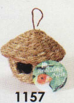 #1157 Large Finch Round Hut Nest