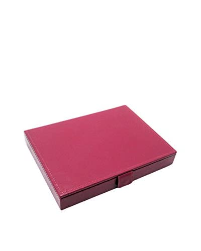 Morelle & Co. Lidded Stackable Jewelry Box, Fuchsia