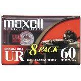Maxell UR-60 Blank Audio Cassette Tape - 8 Pack (109085)