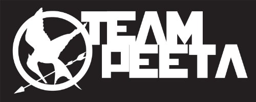 Hunger Games Team Peeta Design 2 Sticker Decal. White
