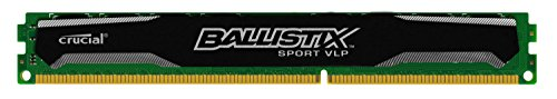 Crucial Ballistix Sport 8GB Single DDR3-1600 (PC3-12800) Very Low Profile 240-Pin UDIMM Memory Module BLS8G3D1609ES2LX0 (Crucial Ddr3 Low Profile compare prices)