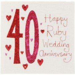 Ruby Wedding Gift Ideas John Lewis : Amazon.com : Happy Ruby Wedding Anniversary, 40 CardX21 : Office ...