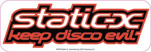 Static-X - Keep Disco Evil Foil - Bumper Sticker / Decal