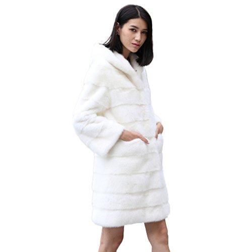 fur story 16150 long vrai fourrure de vison manteau de la femme avec fourrure de capot. Black Bedroom Furniture Sets. Home Design Ideas