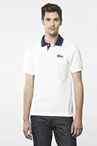 Short Sleeve Pique United States Croc Flag Polo