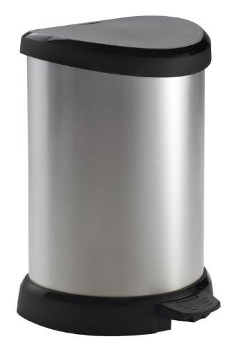 curver-20-litre-metal-effect-pedal-deco-bin-silver