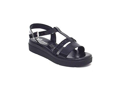 Susimoda scarpa donna, modello sandalo 2550/6, in vernice glitterata, colore nero