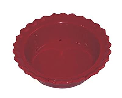 Chantal Ceramic 5-Inch Pie Dish, Glossy Red