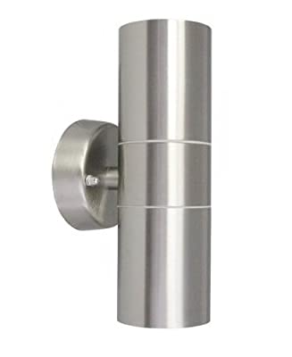 Long Life Lamp Company Stainless Steel Double Up Down Wall Spot Light