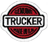Genuine Trucker - Made in the U.K - Embroidered Patch 5CM X 6CM (2