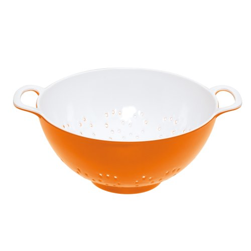Kitchen Craft Colourworks Melamine Colander, Orange, 15cm