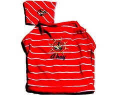 Ahoy Matching 2 Piece Collar Accessible Emroidered Dog Tee and Bandana (Small)