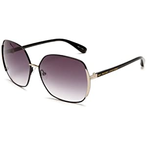 Marc by Marc Jacobs Women's MMJ 098/S Metal Sunglasses,Shiny Black Frame/Dark Gray Gradient Lens,one size