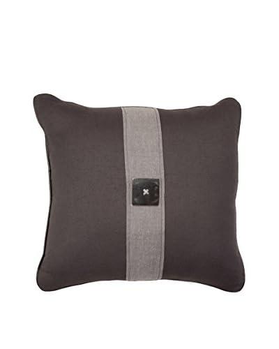Bandhini Homewear Design Horn Button Throw Pillow, Charcoal