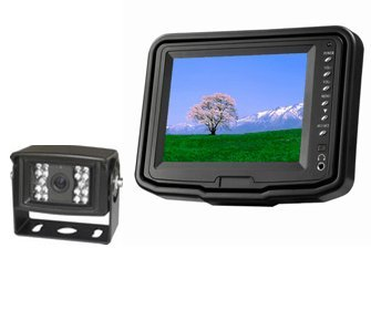 "5"" Lcd Color Rear View Backup Camera System With Ccd 120° Wide View And Night Vision, Free 32' Cable. By Yantech Usa"