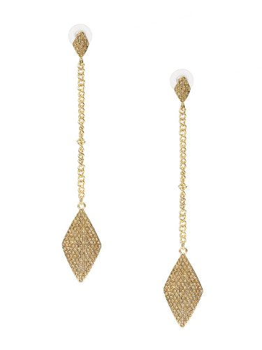 GUESS Diamond-Shaped Drop Earrings