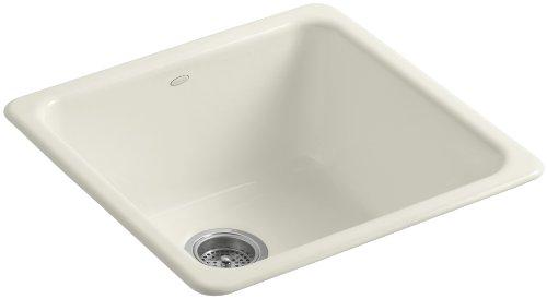 KOHLER K-6587-96 Iron/Tones Self-Rimming Undercounter Kitchen Sink, Biscuit (Kohler Iron Tones compare prices)