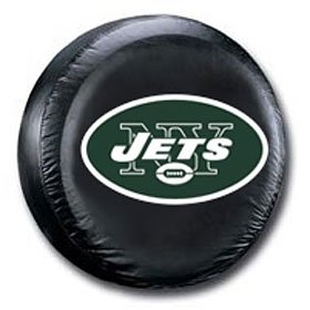 New York Jets Black Tire Cover by Hall of Fame Memorabilia
