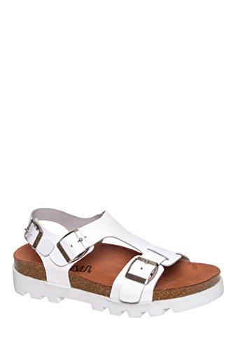 Neva Mid Heel Flat Sandal